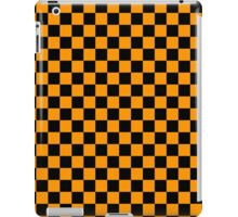 Yellow and Black Checkers iPad Case/Skin