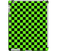 Green and Black Checkers iPad Case/Skin