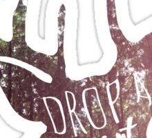 drop a heart, break a name Sticker