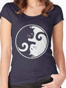 YIN YANG CAT Women's Fitted Scoop T-Shirt