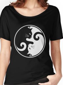 YIN YANG CAT Women's Relaxed Fit T-Shirt