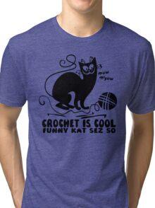Crochet is Cool Tri-blend T-Shirt