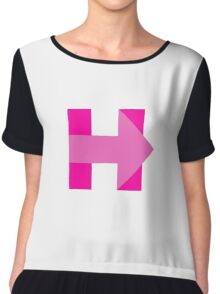 H is for Hillary - Pink Chiffon Top