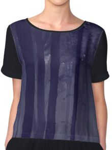 Midnight Mist Chiffon Top