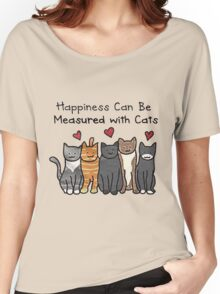 Happiness  Can Be Measured With Cats Women's Relaxed Fit T-Shirt