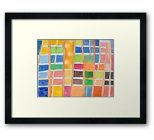 Rectangle Pattern With Sticks  Framed Print