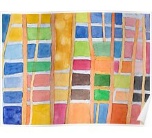 Rectangle Pattern With Sticks  Poster