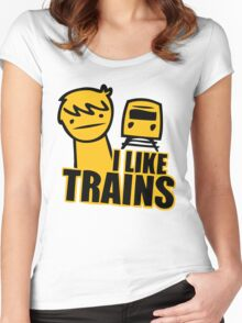 I Like Trains Women's Fitted Scoop T-Shirt
