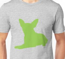 Dog with long ears silhouette Unisex T-Shirt