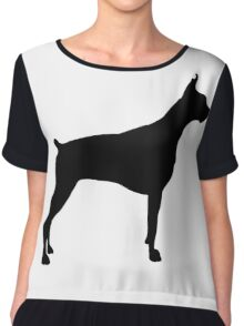 American pit bull terrier silhouette Chiffon Top