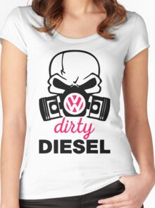 The Dirty Diesel Skull Women's Fitted Scoop T-Shirt