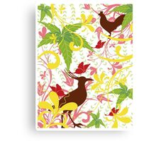 Beautiful delineation birds Canvas Print