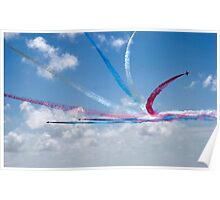 Red Arrows aerobatic display team Poster