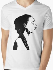 woman's profile Mens V-Neck T-Shirt
