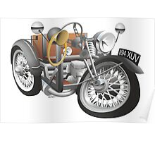 1935 Reliant 7cwt caricature personalized for Geoff Poster