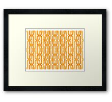 Geometric interlaced pattern  Framed Print