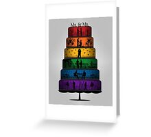 Gay Pride Wedding Cake Greeting Card