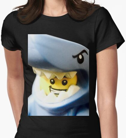 Lego Shark Suit Guy minifigure Womens Fitted T-Shirt