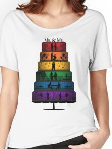 Gay Pride Wedding Cake Women's Relaxed Fit T-Shirt