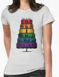 Gay Pride Wedding Cake Womens Fitted T-Shirt