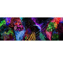 Mask Alien Brain Scape Photographic Print
