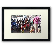 Playing Mummies at Juice Time Framed Print