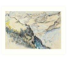 SIGNAC, PAUL (35) Le Mont Blanc vu de Sallanches.  Art Print