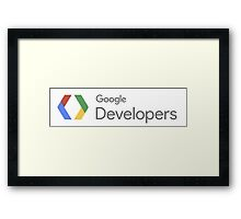 Google Developers Framed Print