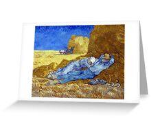 Vincent van Gogh The Siesta Greeting Card