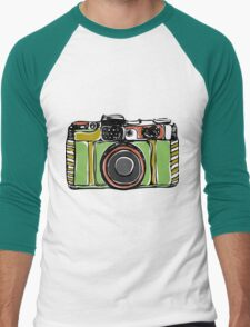 Vintage film camera  Men's Baseball ¾ T-Shirt