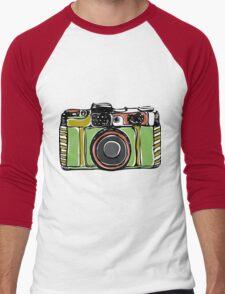 Vintage film camera  Men's Baseball ¾ T-Shirt