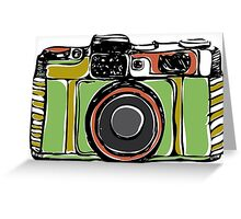 Vintage film camera  Greeting Card