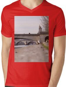 A Seagull On The Edge Of A River Bank On A Sunny Day Mens V-Neck T-Shirt