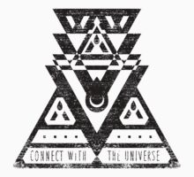 Connect With The Universe - Typography and Geometry One Piece - Short Sleeve