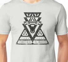 Connect With The Universe - Typography and Geometry Unisex T-Shirt