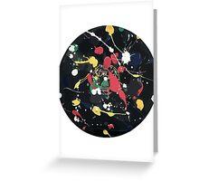 Splattered Reord Greeting Card