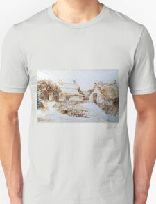 Vincent van Gogh Two Cottages at Saintes-Marie-de-la-Mer Unisex T-Shirt