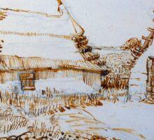 Vincent van Gogh Two Cottages at Saintes-Marie-de-la-Mer Sticker