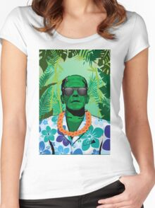 Frankensteins Monster Holiday Women's Fitted Scoop T-Shirt