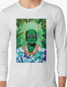 Frankensteins Monster Holiday Long Sleeve T-Shirt