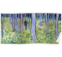 Vincent van Gogh Undergrowth with Two Figures Poster