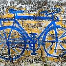 Painted bicycle, Kumily, India by Syd Winer