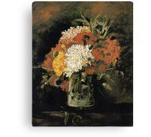 Vincent van Gogh Vase of Carnations Canvas Print