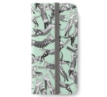 cat party mint iPhone Wallet/Case/Skin