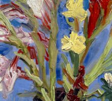 Vincent van Gogh Vase of Gladioli and Chinese Asters Sticker