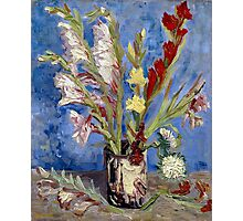 Vincent van Gogh Vase of Gladioli and Chinese Asters Photographic Print