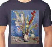 Vincent van Gogh Vase of Gladioli and Chinese Asters Unisex T-Shirt