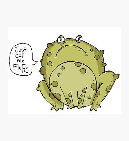 fluffy toad? Photographic Print