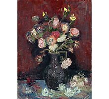 Vincent van Gogh Vase with Chinese Asters and Gladioli Photographic Print