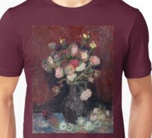 Vincent van Gogh Vase with Chinese Asters and Gladioli Unisex T-Shirt